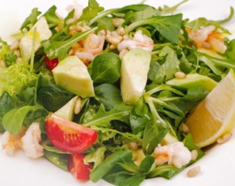 Салат рукола креветка, доставка еды на дом