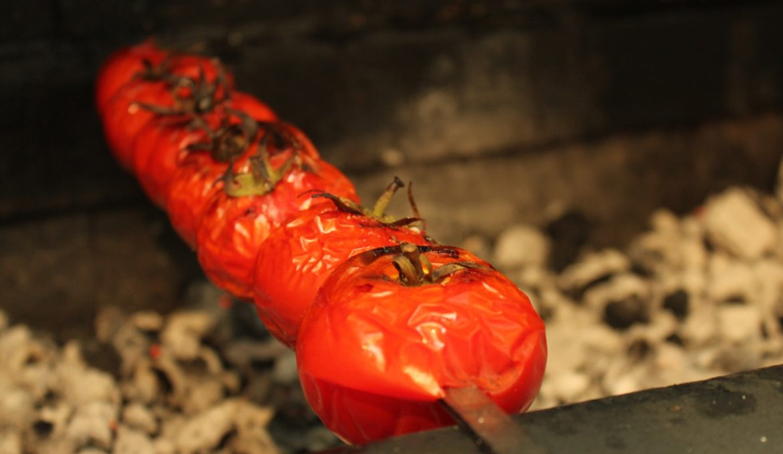 Шашлык из свинины, маринованый в помидорах - пошаговый 76